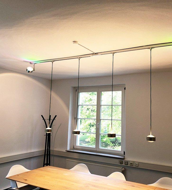 Lichtanlage für Besprechungsraum