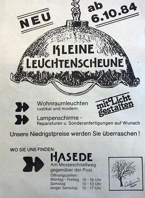 Eröffnung 1984