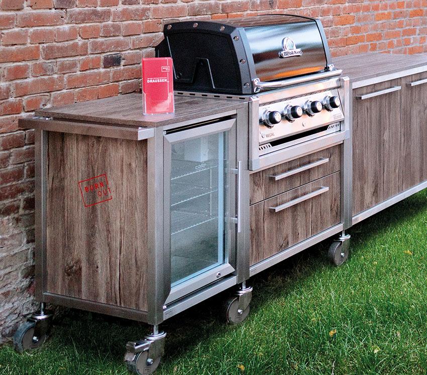 Burnout-Outdoorküche im Lichthaus Hirte