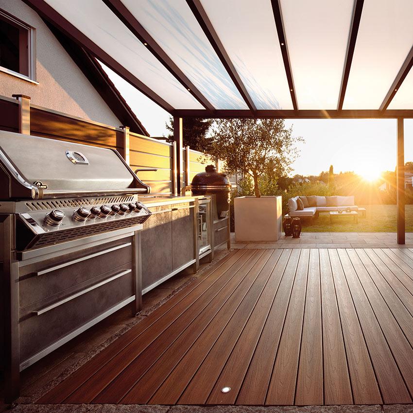 Outdoor-Küche burnout